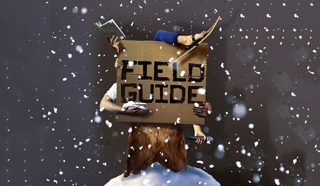 Promotional artwork for Field Guide at the Yale Repertory Theatre.