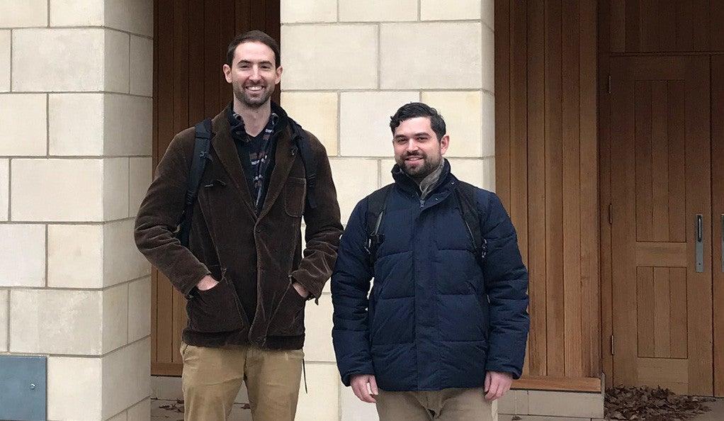 Franz Hochstrasser '19 M.E.M. (left) and Matthew Moroney '18 M.E.M., cof-ounders of Raise Green.