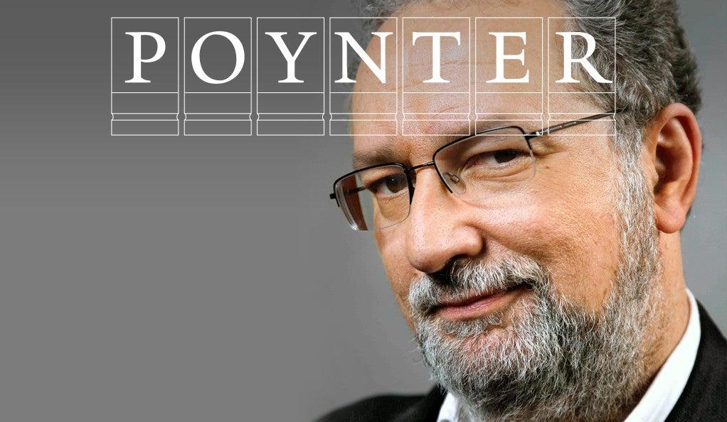 Jean-Michel Frodon with Poynter logo