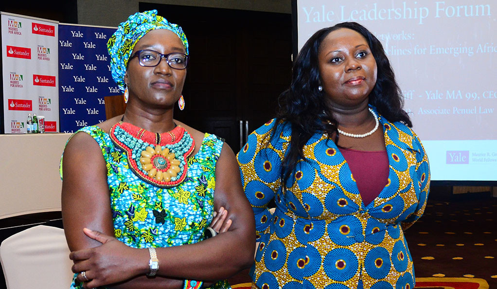 Elizabeth Elango-Bintliff and Ruth Botsio at the Yale Leadership Forum in Accra, Ghana.