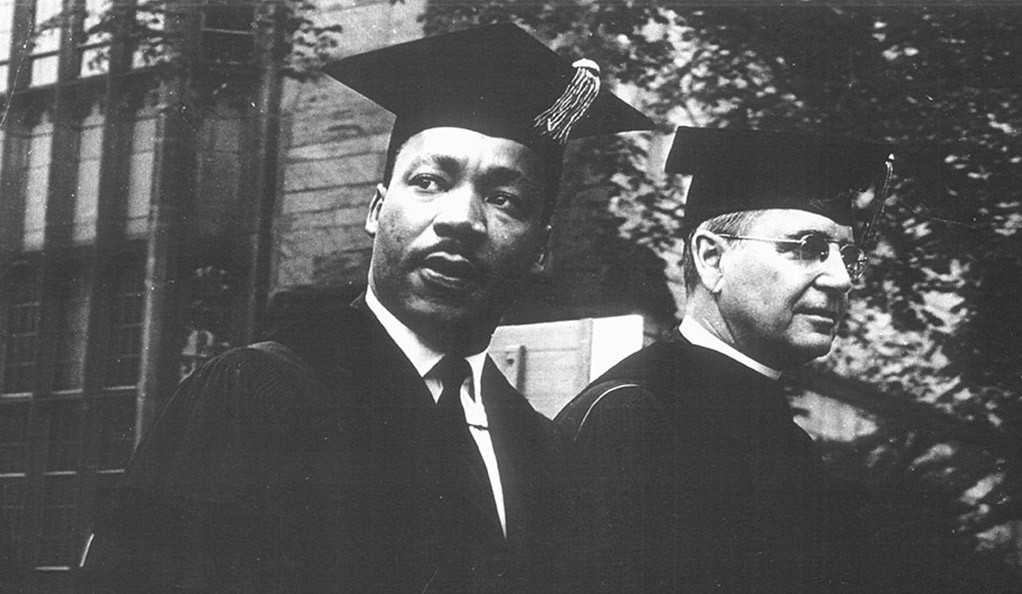 Dr. Martin Luther King Jr. receiving an honorary degree from Yale in 1964.