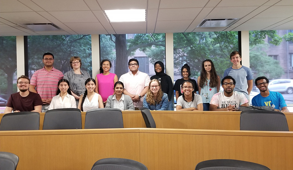 Students and faculty who participated in the summer Granville Academy program at Yale.