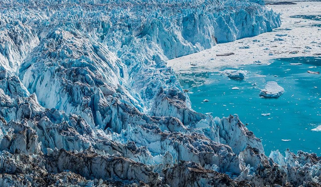 Glacier in a sunny day near Narsarsuaq, Greenland.