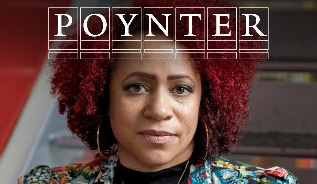 Nikole Hanna-Jones, with Poynter Fellowship logo