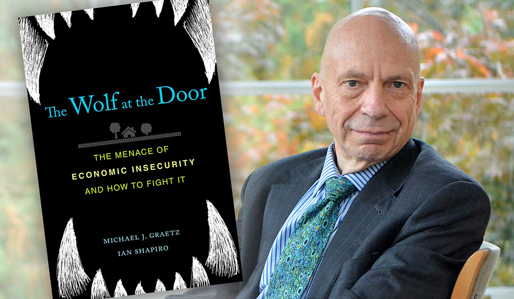 Ian Shaprio with Wolf at the Door book jacket