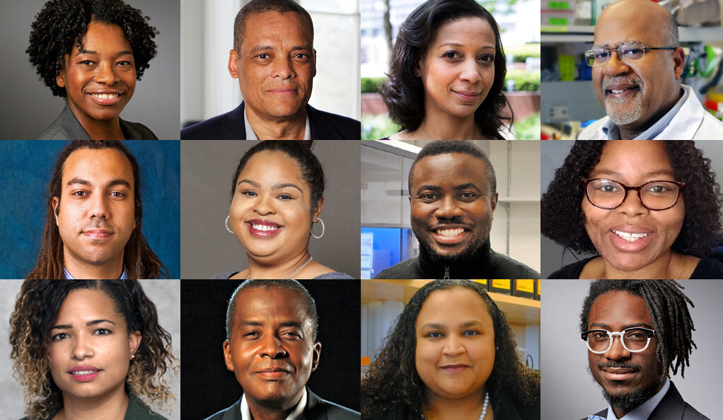 Collage of Yale faculty members included in a list of 1,000 inspiring Black scientists in Cell Mentor.