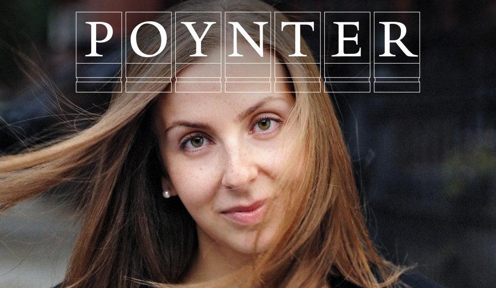 Maria Konnikova with Poynter logo
