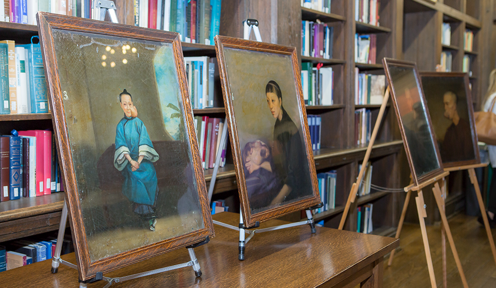Paintings by 19th-century Cantonese artist Lam Qua on display at Yale.