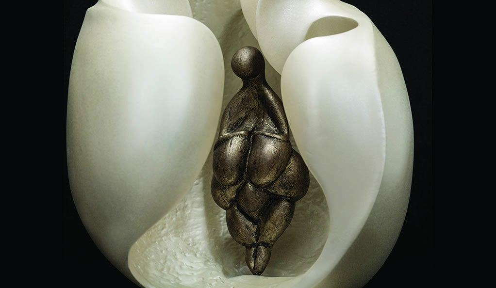 Lespugue, a sculpture by Cornelia Kubler Kavanagh