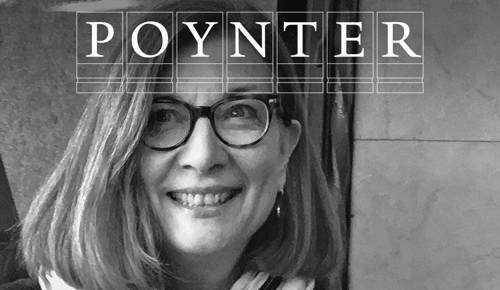 Nancy Levinson with Poynter logo