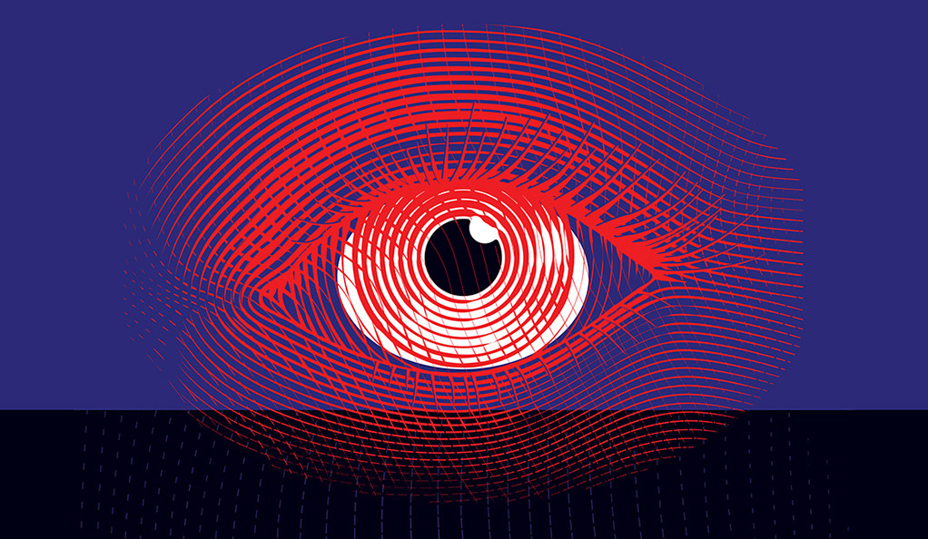 A stylized illustration of an eye.