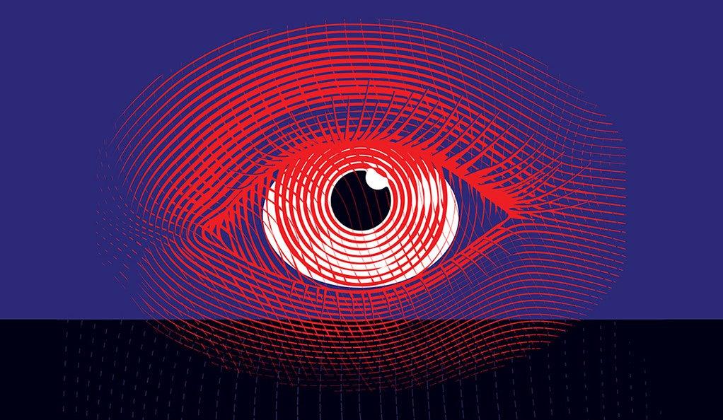 A stylized illustration of an eye.