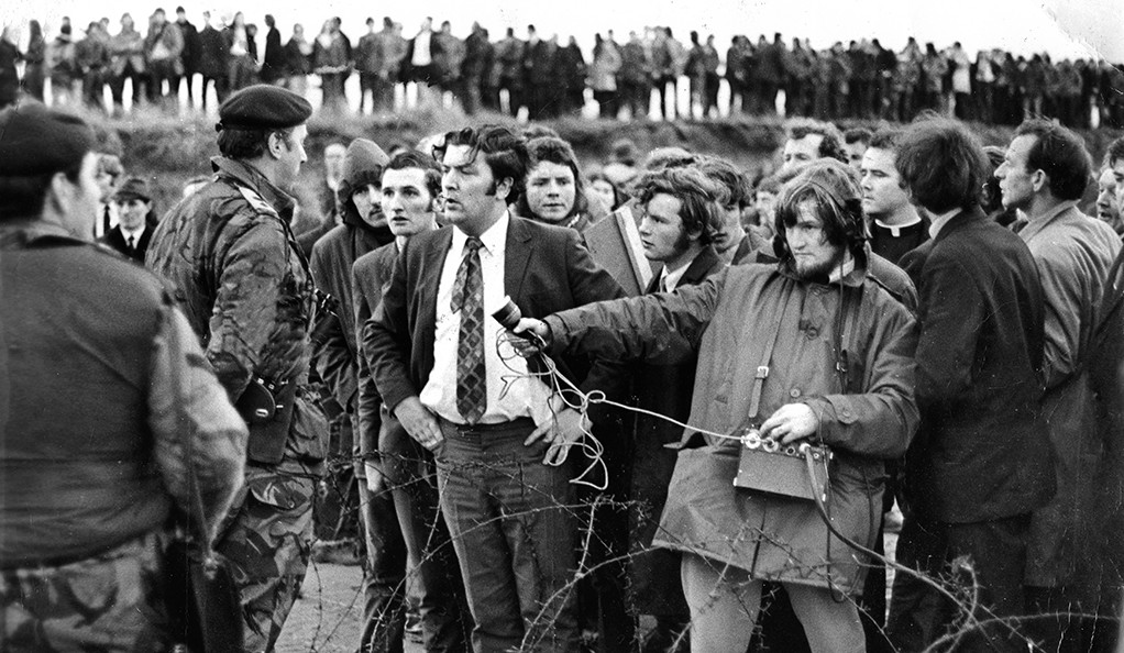 "A promotional still from of ""In the Name of Peace: John Hume in America."""