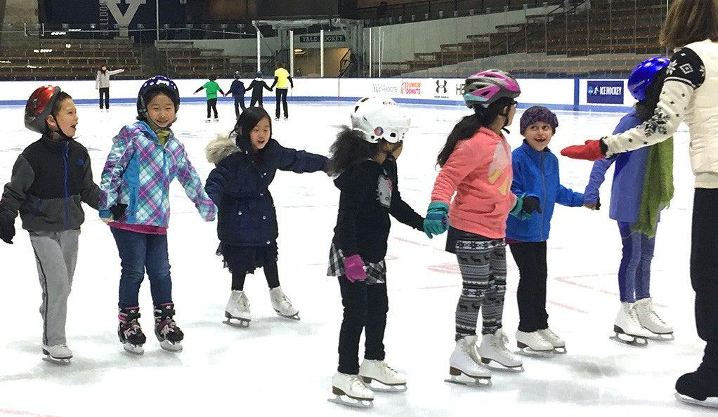 Children figure skating.
