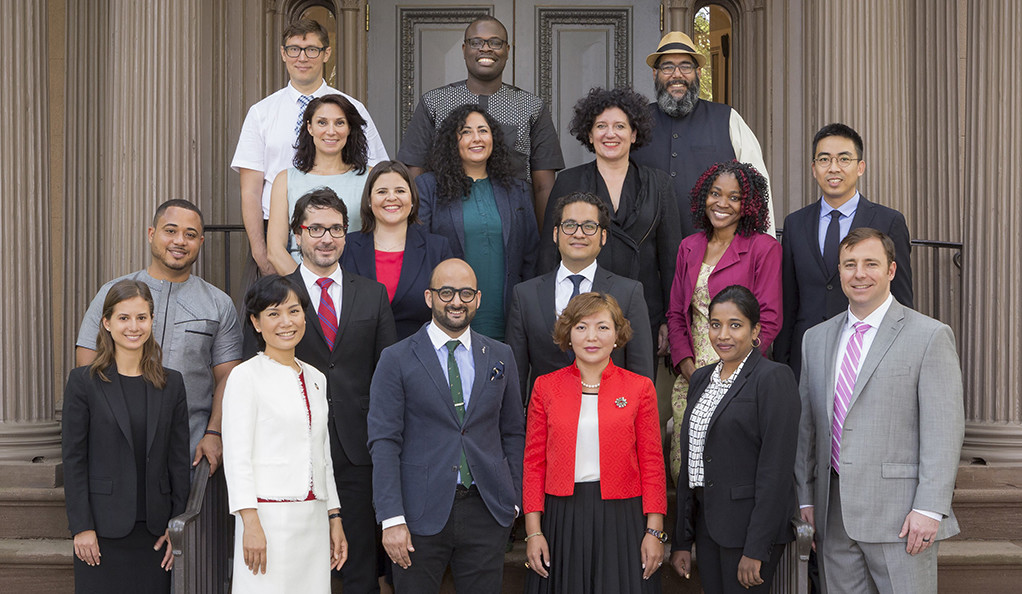 A photo of the Class of 2017 World Fellows.