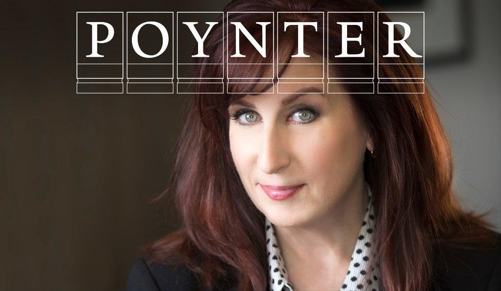 Maryn McKenna with Poynter Fellowship logo.