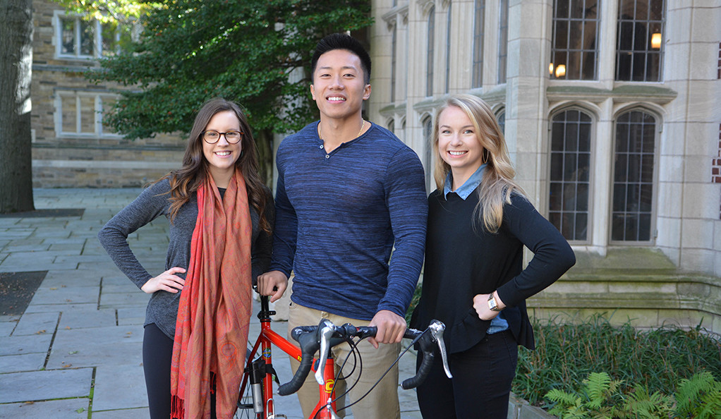Yale undergrad military veterans Hillary Browning, Andrew Nguyen, and Allegra Pankratz