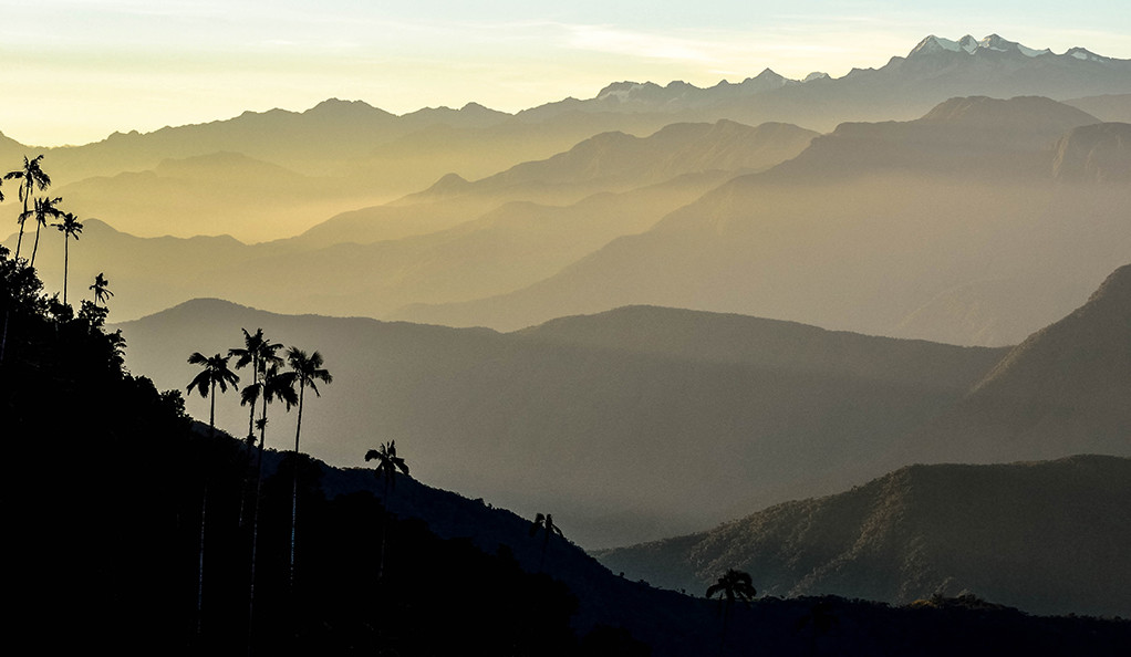 The Sierra Nevada de Santa Marta mountain range in Colombia