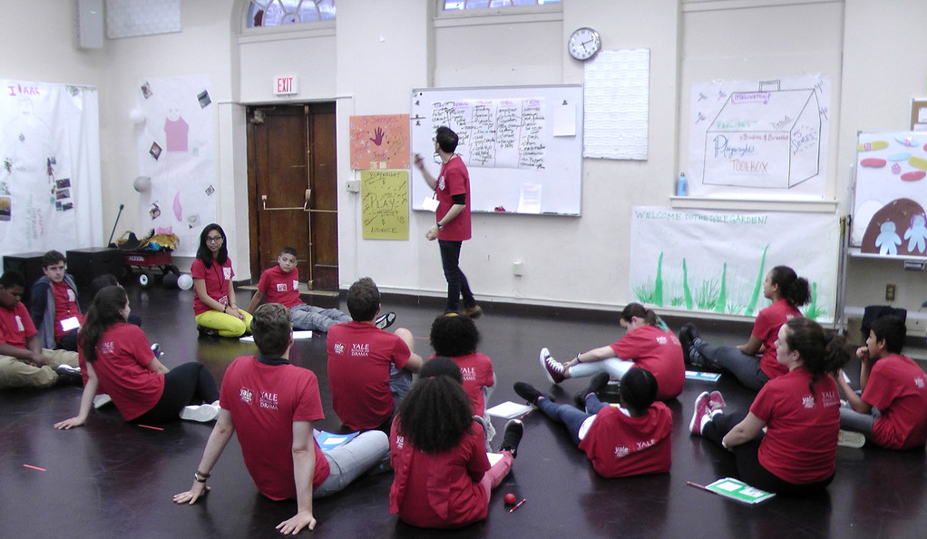 New Haven middle school students in a classroom