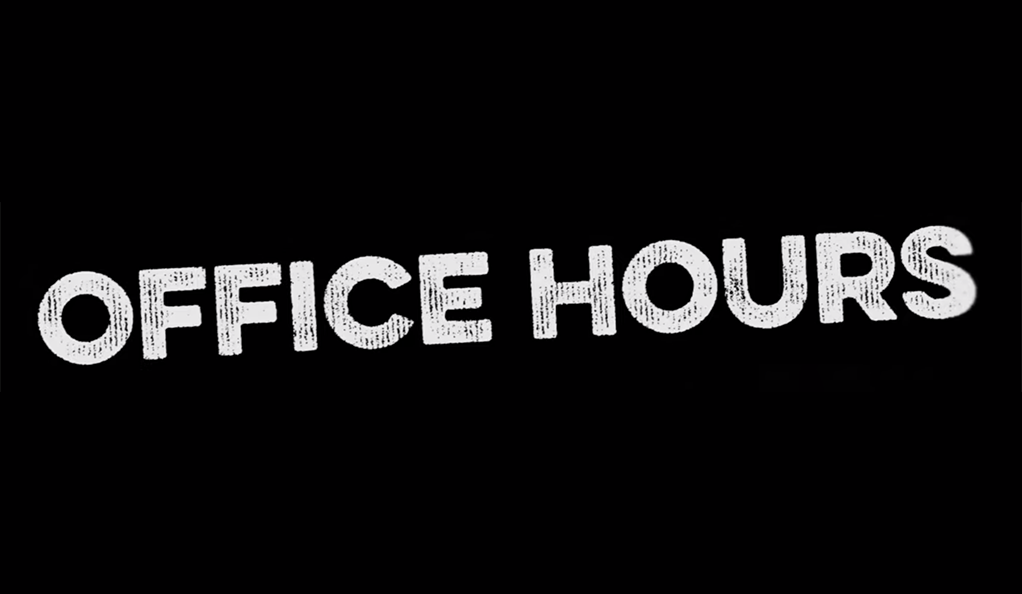 Office Hours video title card