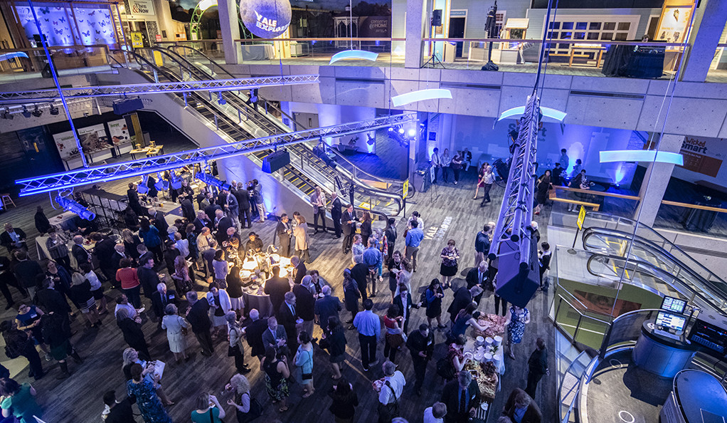 A networking reception at Yale Explores Boston