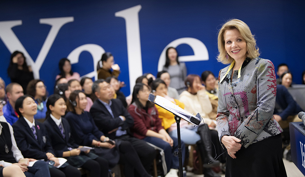 Renée Fleming at Yale Center Beijing on Oct. 29