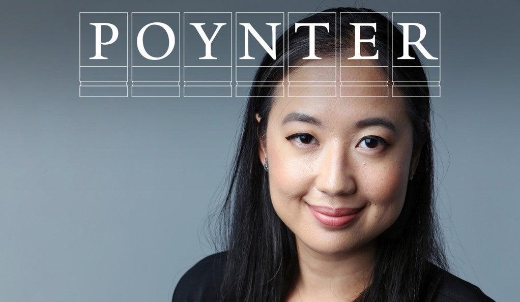 Sarah Jeong with Poynter logo.