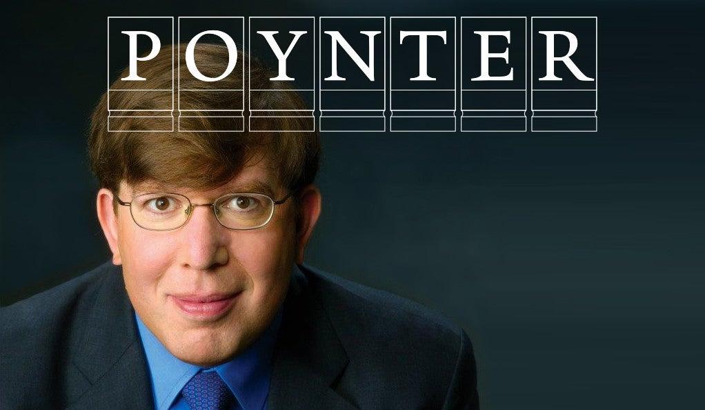 Charles Seife with the Poynter Fellowship logo.