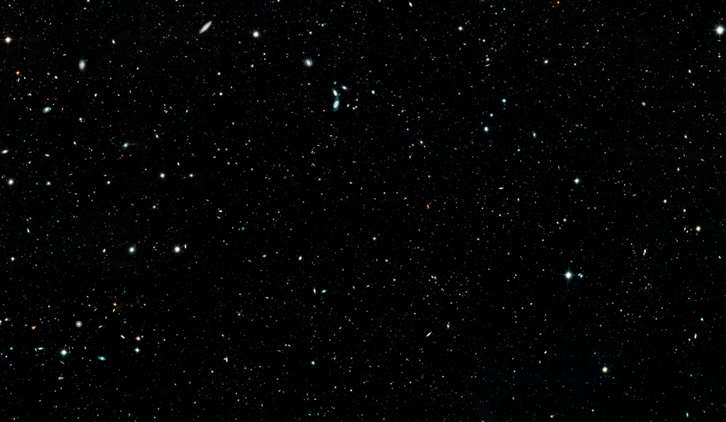This Hubble Space Telescope image represents a portion of the Hubble Legacy Field, one of the widest views of the universe ever