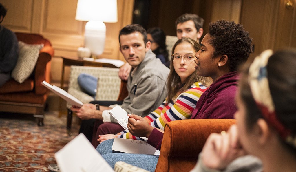 Students at Pauli Murray College discuss Murray's legacy.