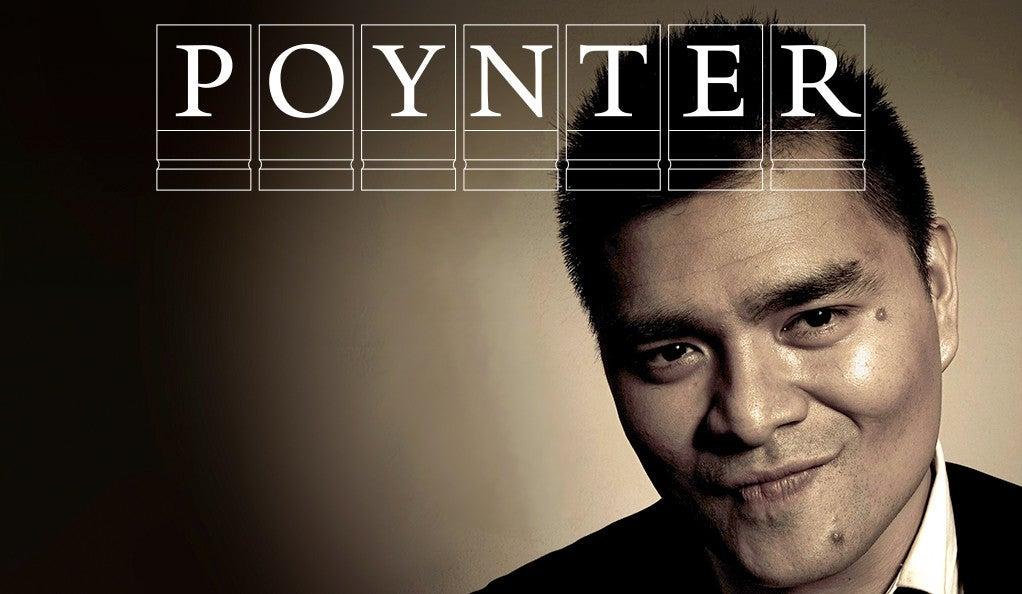 Jose Antonio Vargas with Poynter logo