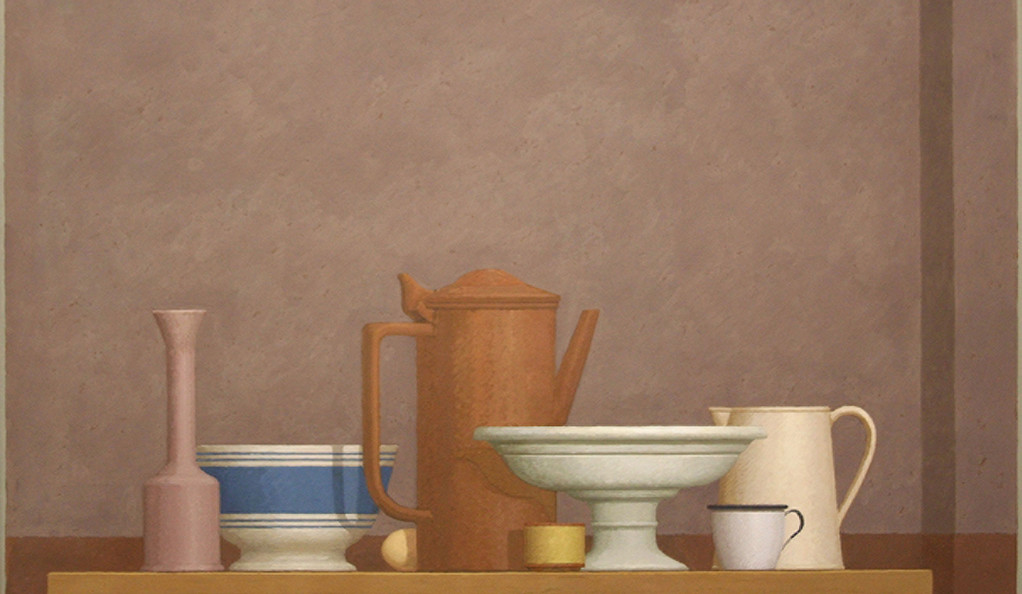Still life painting by William Bailey, Borello