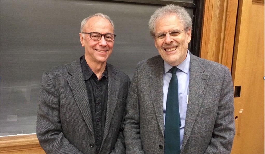Photo of Dr. Bruce Wexler and Bernard Avishai