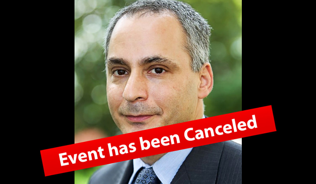 Benjamin Wittes - Event has been Canceled