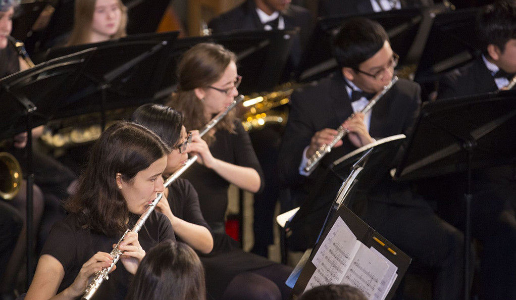 Flautists in the Yale Concert Band