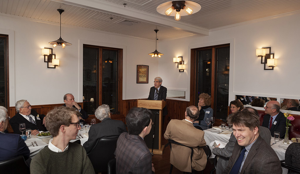 Yale President Peter Salovey addresses the 50th anniversary celebration for the Institution of Social and Policy Studies.