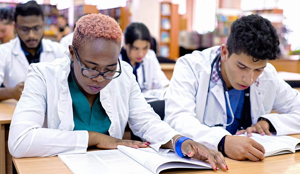 Multi-ethnic medical students