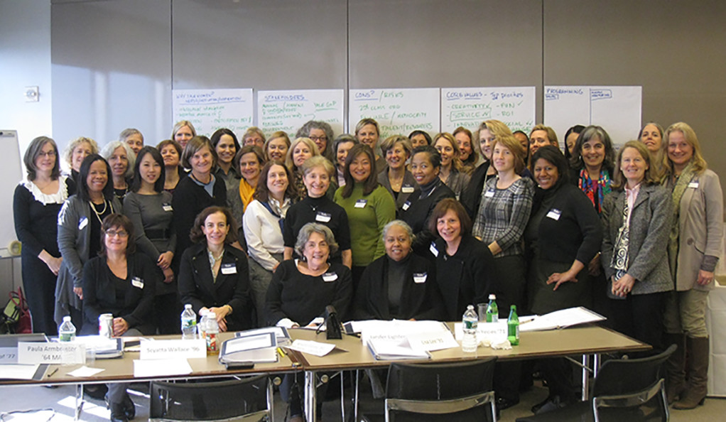 A group photo from a 2011 strategic planning meeting, when YaleWomen was officially incorporated as an alumni group.