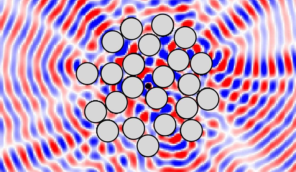 A symmetrical wave pattern.