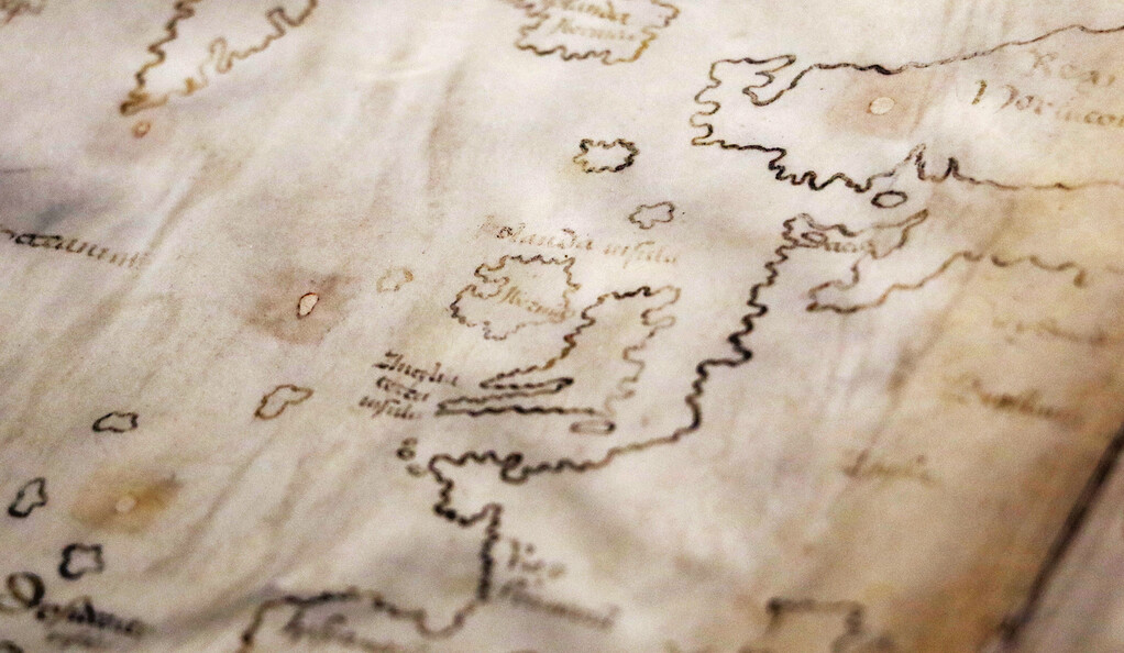 Detail of the Vinland Map.