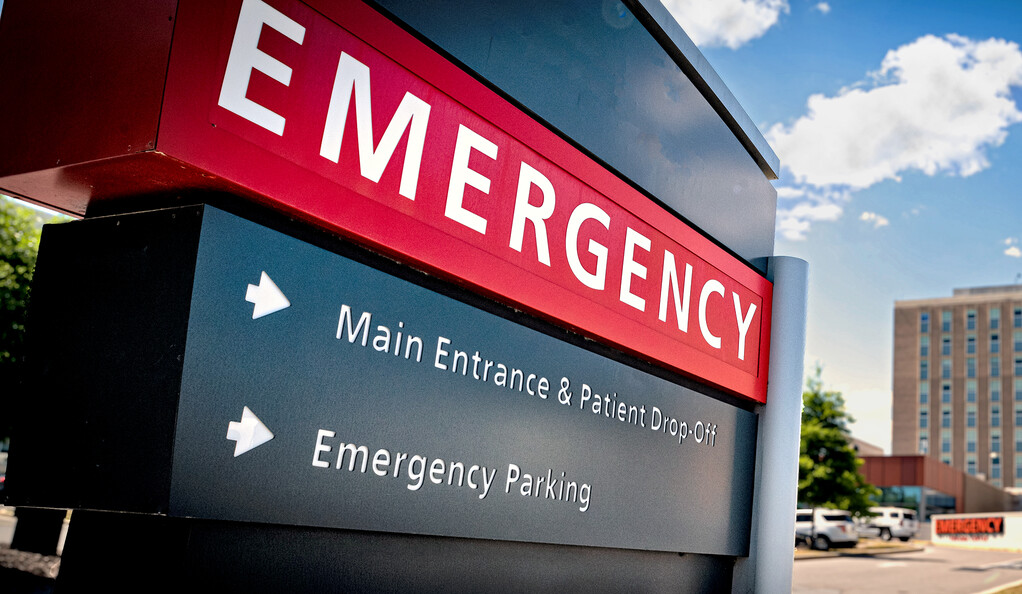 Emergency department sign