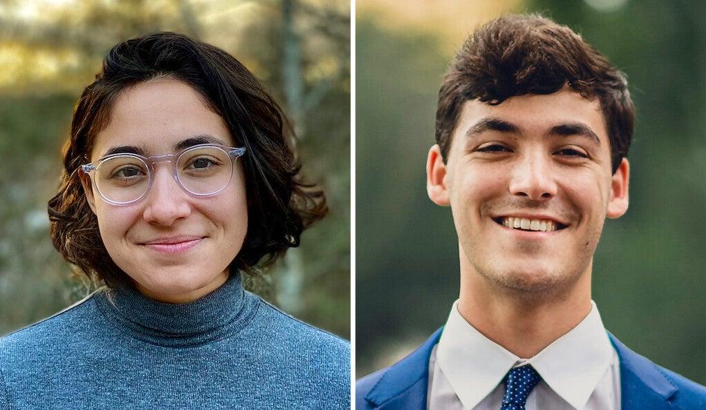 Yale juniors Alie Brussel Faria and Eli Sabin.
