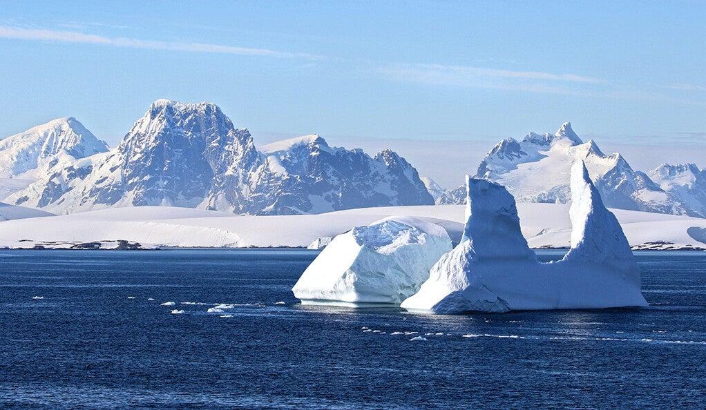 An ice sheet.