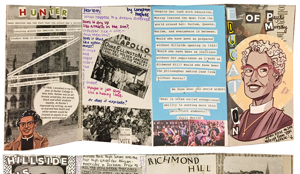 A creative collage interpreting civil rights history with poetry and photographs.