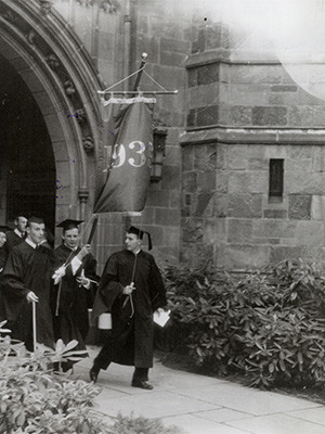A scene from Commencement in 1939