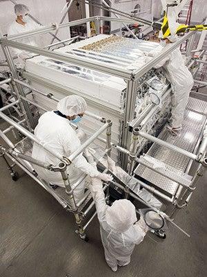Assembly of the PROSPECT neutrino detector.