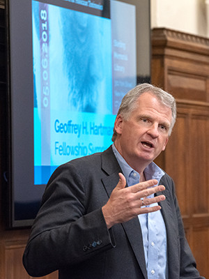 Yale historian Timothy Snyder delivering remarks at the Fortunoff Video Archive for Holocaust Testimonies on May 6, 2018.