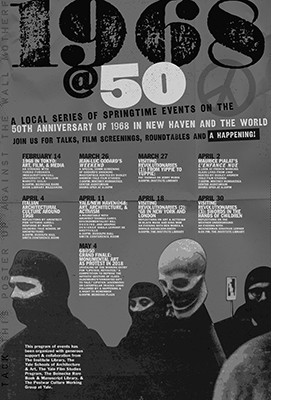 Poster art for 1968 @ 50 events at Yale University.