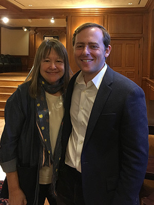 Anne Fadiman and David Litt at Branford College on Yale Campus