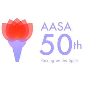 Asian American Students Alliance 50th anniversary event logo